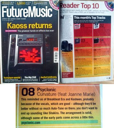 Future Music Magazine review October 2006 edition 180